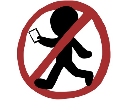 Prohibition of walking smartphone