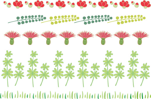 Hand-painted flowers line 4 color