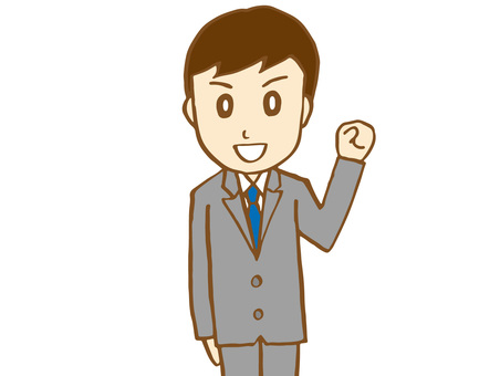 Salaryman 15-3 (Upper body up)