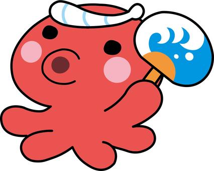 Octopus with fan