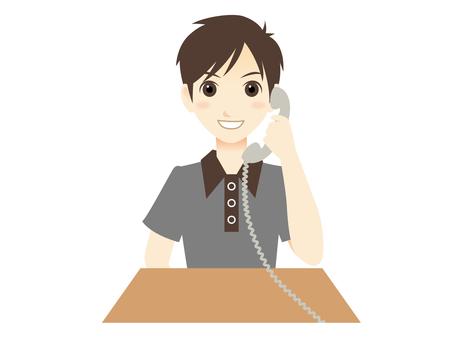 E071_ Phone with plain clothes man