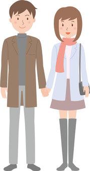 남녀 겨울 커플