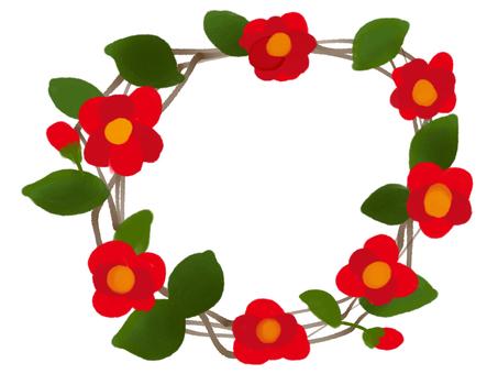 Camellia wreath