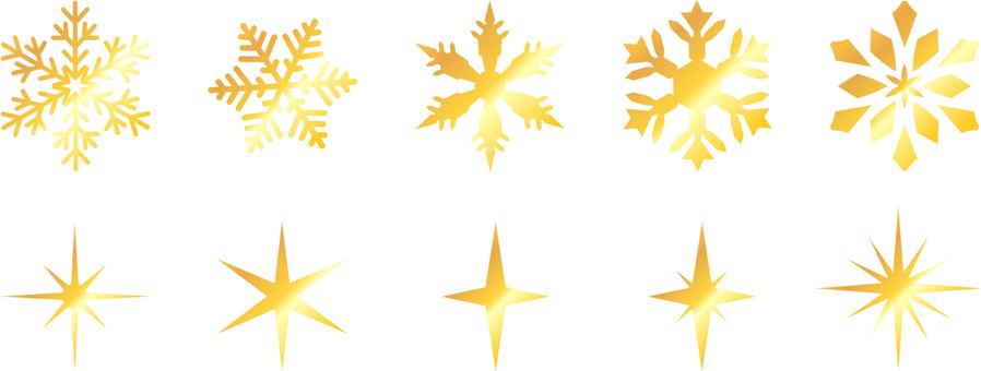 Snowflake gold