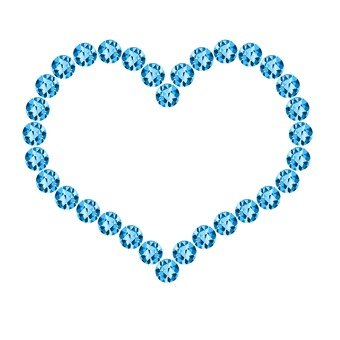 Heart deco - light blue