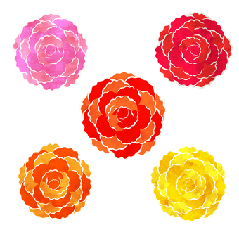 Carnation watercolor style icon