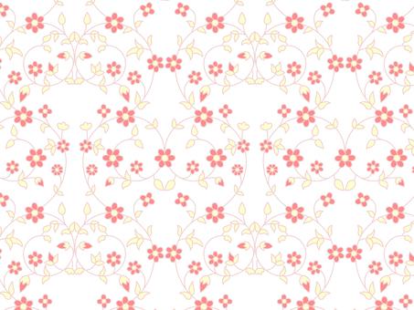 AI與花卉圖案色板