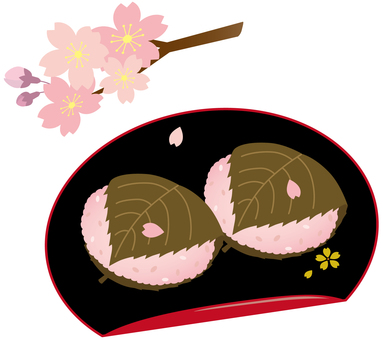 Domyoji, with lacquer and cherry blossoms