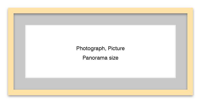 Panorama Frame Natural - Gray Mat