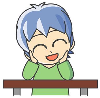 Boy - cheek smile