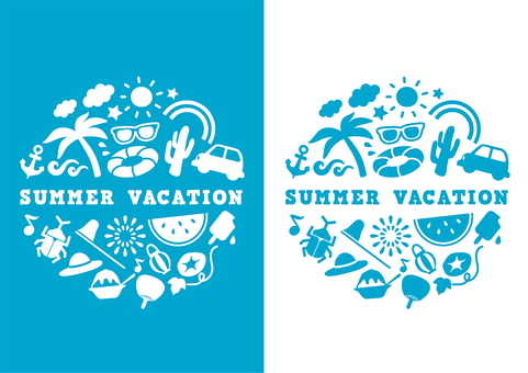 Summer vacation logo design summer