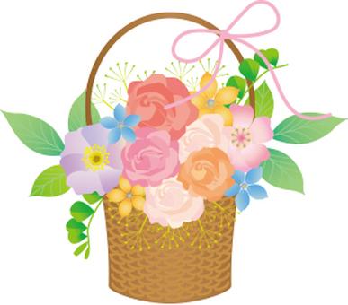Basket Bouquet Ribbon