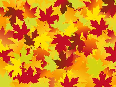 日本风格的材料秋天的落叶背景落叶