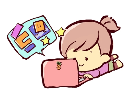 Girl programming game