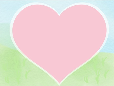 Heart frame of the meadow