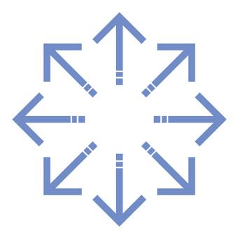 Single line arrow _ Happo _ sky