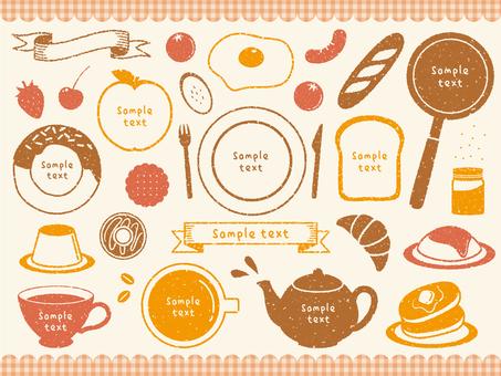 Stamp dish decoration set 02