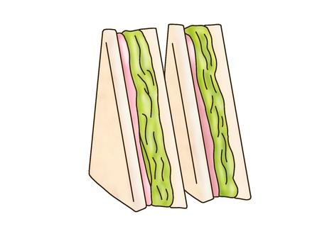 Ham lettuce sand