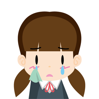 Female student (sorrow) Bust up