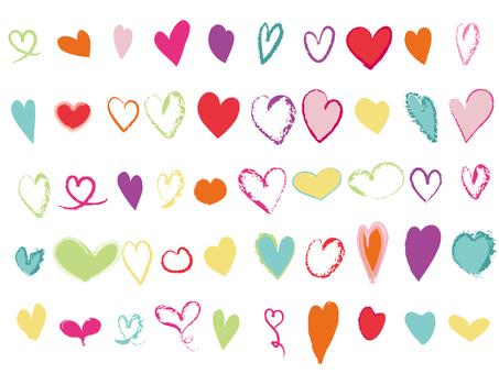 Various hearts 2 50 kinds
