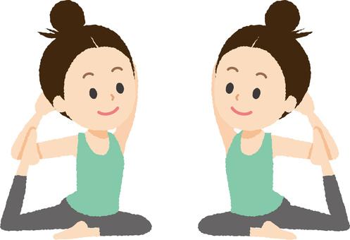 Yoga Pige pose