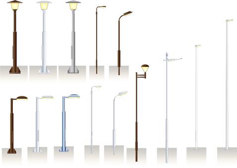 例證套路或公園的照明設備