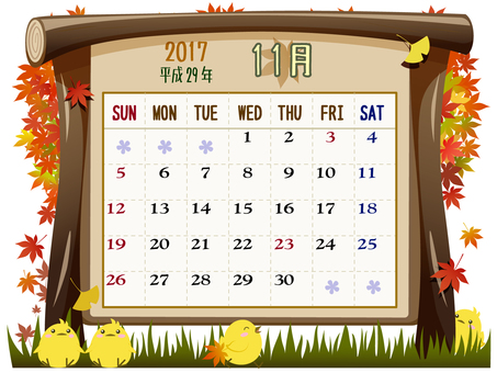 Calendar of November (2017