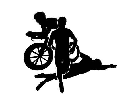 Triathlon silhouette 3