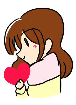Valentine's girlfriend ...