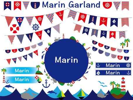 Marine style frame Garland