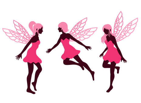 Fairy silhouette pink