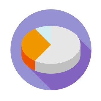 Flat icon - Pie chart