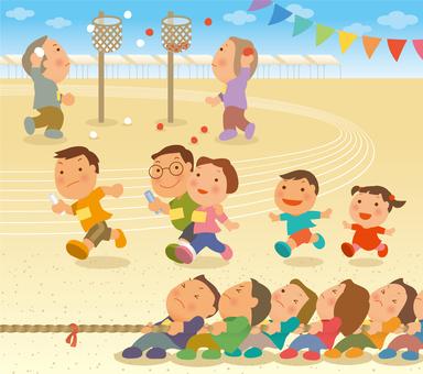 지역 체육 대회 세트