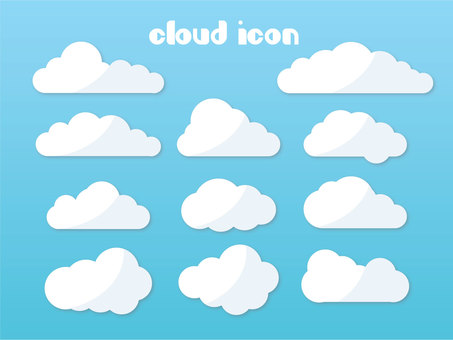 Cloud icon set (png is background transparent)