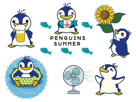 Summer penguin