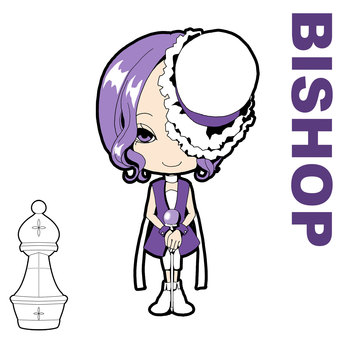 Chess character BISHOP [white]