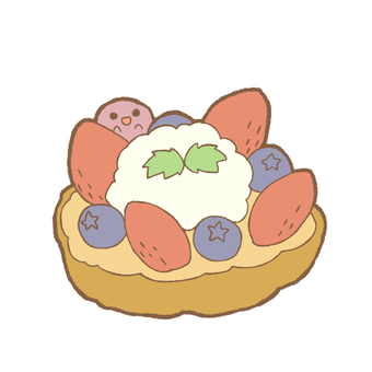 Strawberry and blueberry custard pie