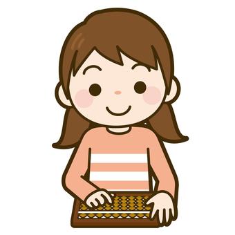 Girl playing abacus