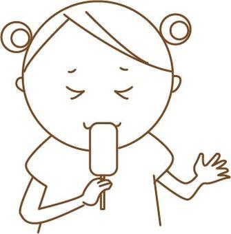 Children who eat ice cream