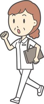 中年女護士白大衣-282-全身