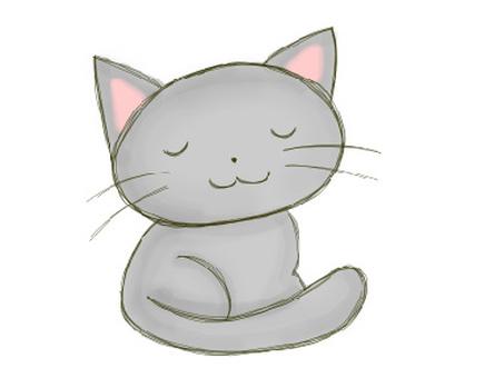 Cat close eyes