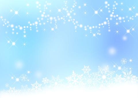 눈송이 _ 밝은 파란색 배경