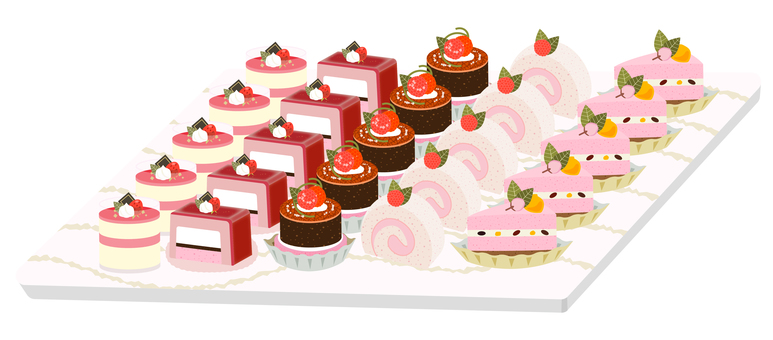 Spring_Cute cake buffet_Strawberry