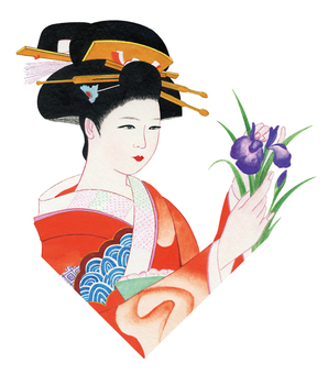 Japanese style beautiful painting