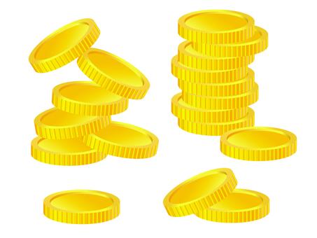 コインのイメージイラスト