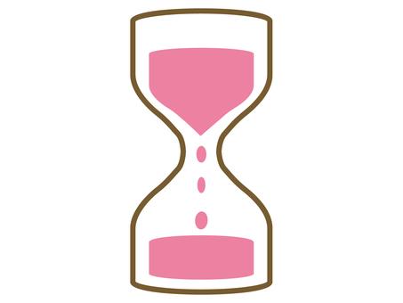 모래 시계 핑크
