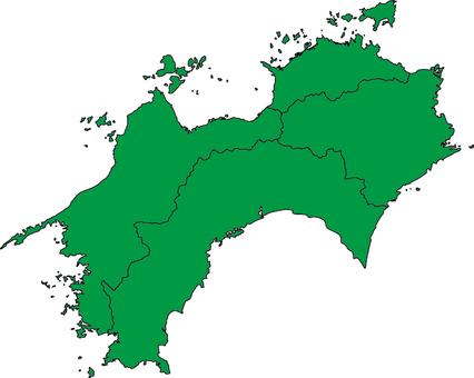 Shikoku region _ green