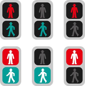 Pedestrian signal set