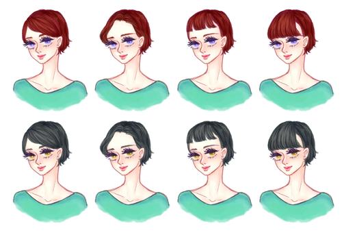 """Girls' hair style """"Short B"""""""