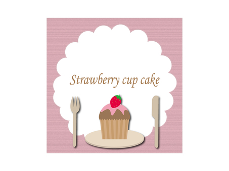 Strawberry cup cake